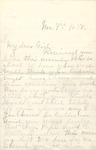Correspondence - 1897, November 7 - Kansas Webb
