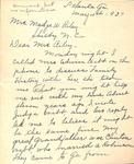 Correspondence - 1937, May 4 - Polly Webb Southerell