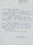 Correspondence - 1953, July 3 - Vicki Plaster