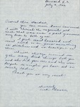 Correspondence - 1953, July 3 - Vicki Plaster by Vicki Plaster
