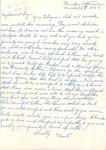 Correspondences - 1953, March 6 - M. Unknown
