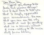 Correspondence - Undated - Beatrice Suttle