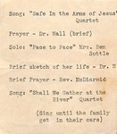 Funeral and Memorial - Funeral Service of Madge Webb Riley by Unknown
