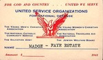 Clubs and Organizations - 1941 - United Service Organizations Card