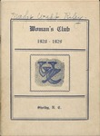 Clubs and Organizations - 1929 - Woman's Club Book