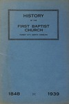 First Baptist Church, Forest City - History of the First Baptist Church, 1848 - 1939