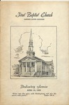 First Baptist Church, Gaffney - Dedicatory Service - 1955, April 24