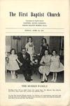 First Baptist Church, Gaffney - Worship Bulletin - 1955, April 24 by Unknown