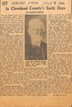 Thomas Dixon, Sr. - Cleveland County's Early Days (News Clipping ) by Mamie Jones