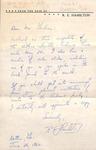Correspondence - 1962, June 26 - R. E. Hamilton by R. E. Hamilton