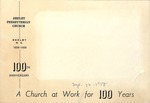 Shelby Presbyterian Church 100th Anniversary (1958, September 12)