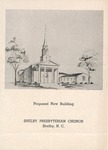 Proposed New Building Plans - Shelby Presbyterian by Mason L. Carroll and Walter L. Brown
