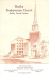 Worship Bulletin - 1954, August 21 - Shelby Presbyterian Church