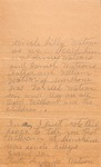 Genealogy Notes - Watson Family (Ruth Amanda Watson)