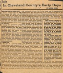 News Clipping - 1948 - Cleveland County Early Days Column by Mamie Jones