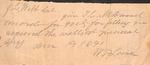 Document - 1891 - W. P. Love by William Putnam Love