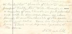 Zion Church Record Book - Transfer of Letter, William Alexander, 1882, June 3