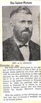 Newspaper Clipping Rev. A.L. Stough