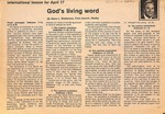 Magazine - Biblical Recorder - April 9,1988 - Gene Watterson