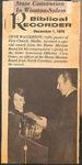 Magazine-Biblical Recorder- Dec 1, 1979- Gene Watterson