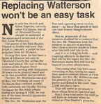 News Clipping - Gene Watterson - Replacement