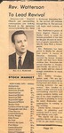 Newspaper Clipping - Gene Watterson by Unknown