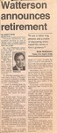 Newspaper Clipping - Shelby Star -1995- Gene Watterson by Janet E. Davis