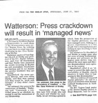 Newspaper Clipping - The Shelby Star- June 27 1990 - Gene Watterson