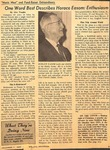 Magazine - Biblical Recorder - Dec. 11, 1965 - Horace Easom