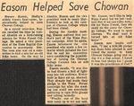 News Clipping - Horace Easom