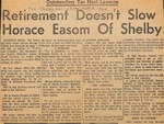 Newspaper - The Shelby Daily Star- Feb. 1, 1963 - Horace Easom by Unknown