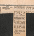 Newspaper - The Cleveland Times - Oct. 22, 1966 - John Ward