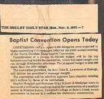 Newspaper - The Shelby Daily Star - Nov. 9 1970 - John Lawrence
