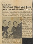 News Clipping - 1961, December - Santa Claus Attends Open House at Dr. Lee McBride White's School