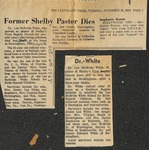 News Clippings - November 19, 1968 - Obituaries - Lee McBride White by Unknown