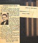 Magazine - Biblical Recorder - April 3 1965 - Joseph McClain