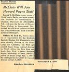 Magazine - Biblical Recorder - Sept. 6 1969 - Joseph McClain by Unknown