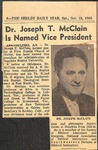 Newspaper- The Shelby Daily Star - Oct 19 1968 - Joseph McClain by The Shelby Daily Star