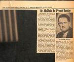 Newspaper- The Shelby Daily Star- April 16 1965 - Joseph McClain by The Shelby Daily Star