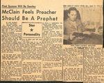 Newspaper -The Shelby Daily Star -April 17 1965 - Joseph McClain by Jim Hardin