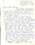 Correspondence - August 26, 1963 - Marion Swope Quinn by Marion Swope Quinn