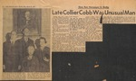 News Clipping - Late Collier Cobb Was Unusual Man
