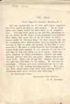 Letter from the Pastor - 1902 - Rawley F. Tredway
