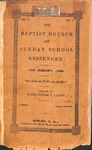 1866 - The Baptist Church and Sunday School Messenger by Tilman R. Gaines