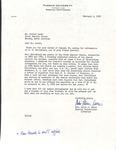Correspondence -  Roland Leath & Mrs. Ollin J. Owens - 1965