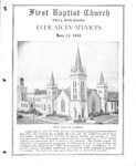Bulletin - Dedicatory Services - June 13, 1943