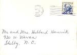 Correspondence - Sept. 22, 1967 - Mr. and Mrs. Hubbard Hamrick