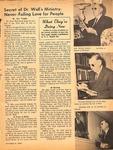 Magazine - Biblical Recorder - Oct. 9, 1965 - Dr. Zeno Wall