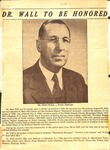 News clipping - Dr. Zeno Wall - Pastor Emeritus by Unknown
