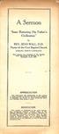 Sermon - Zeno Wall - Nov. 15-17, 1927 - Baptist State Convention